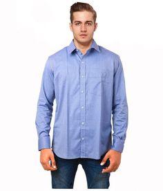 Cobrio Blue Casuals Slim Fit Shirt