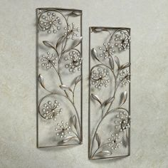 Pearlette Metal Wall Art Panel Set