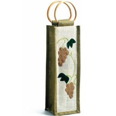 $10.06 The Velvet Vine Wine Tote - 1 Bottle - The velvet vine 1 bottle wine carrier made from all-natural fibers and bamboo woven with cloth, this classic design makes an attractive, unique tote that is reusable and eco-friendly. http://www.amazon.com/dp/B0027HPQ4Y/?tag=pin2wine-20