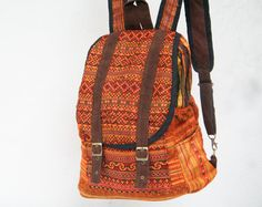 Small Ethnic Backpack HMONG Hand Stitched Gypsy style by TaTonYon, $40.00