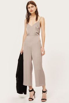 c6e680562499 Strappy Satin Jumpsuit - Clothing