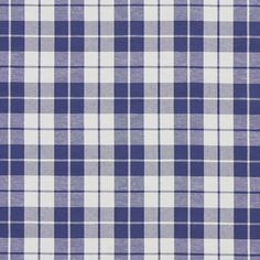 Dark Blue and Light Blue and White or Off-White color Small Scale pattern Denim or Duck or Twill type Upholstery Fabric called DENIM PLAID by KOVI Fabrics