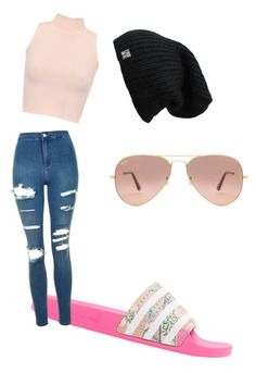"""Untitled #4"" by alevsumer on Polyvore featuring adidas Originals, Topshop, WearAll and Ray-Ban"