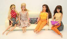 Barbie kanapé tutorial. / Barbie furniture DIY.