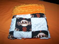 Baby Boy Girl Giants Minky Quilt New Baby New by sososophie