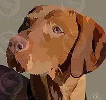 Hungarian Wirehaired Vizsla | snewdesigns | Digital Mans Best Friend, Best Friends, Wirehaired Vizsla, Arte Pop, Madness, Cow, Digital, Drawings, Animals