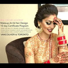 cool vancouver wedding Attention: CLASS DATES JUNE 2015, only two weeks left to register! Why choose Pink Orchid Studio to learn the exciting art of South Asian Bridal Styling? #pinkorchidstudio has been recognized by several panels of peer experts and by popular vote for creating the most beautiful bridal styles in Canada. We constantly are learning and creating the newest techniques to ensure our clients look their very best. Several of our program students have created their own companies…