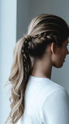 Braided ponytail, boho hair by Nike Nitz - Rouge Rosé