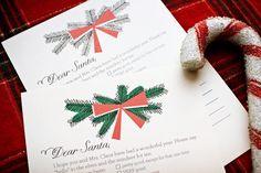 Beautiful little printable wish list to santa (jenny from hank + hunt) #printable