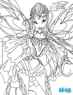 Bloom, transformation Bloomix coloring page