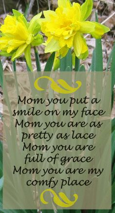 mother's day poem idea