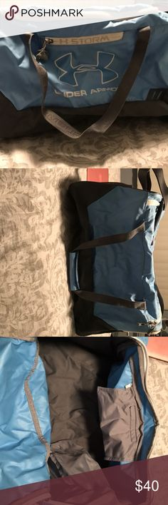 Blue under armor duffle bag baby blue duffle bag, used once Under Armour Bags Duffel Bags