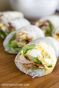 Cobb Salad Spring Rolls with a Skinny Blue cheese dip = YUM
