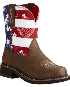 Ariat Fatbaby Patriot Brown Heritage Cowgirl Boots - Round Toe   Sheplers