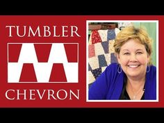 ▶ Tumbler Chevron Quilt: Easy Quilting Tutorial with Jenny Doan of Missouri Star Quilt Co - YouTube
