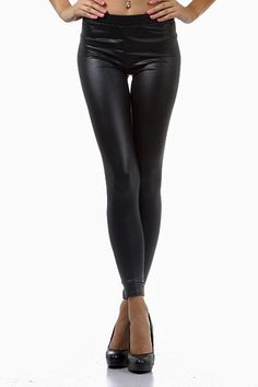 One of our most popular leggings are back! These coated Matte Liquid Cotton Leggings are the perfect legging for formal occasions and for casuals ones as well. They are amazingly comfortable and have generous stretch in every direction unlike most leggings in this particular style. It is a liquid legging that has a matte finish and is both conservative and sexy at the same time. The fabric breathes allowing comforting air flow to your skin. You will simply love these leggings in every w...