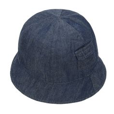 Denim Baby Hat Summer Girl Boy Bucket Hat Pocket Side Children Beach Sun Cap Stripe Fisherman Cap for 4-5 Years