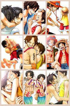 Ace  + Luffy -one piece