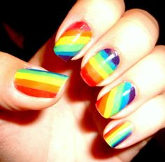 gay pride nails - Google Search