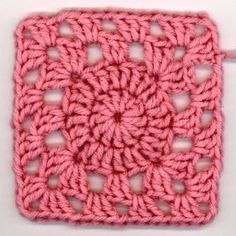 Give your next afghan a pop of pink with this Precious Pink Squircle. Larn how to crochet a circle into a square to create a squircle. This granny square may be one color, but its combination of shapes gives it something special.