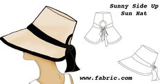 The Vintage Pattern Files: 1950/60's Sewing - Sunny Side Up Hat https://www.fabric.com/creativity-headquarters-free-pattern-downloads-sunny-side-up-sun-hat.aspx