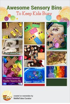 Awesome Sensory Bins To Keep Kids Busy {from Chaos And Clutter Blog}