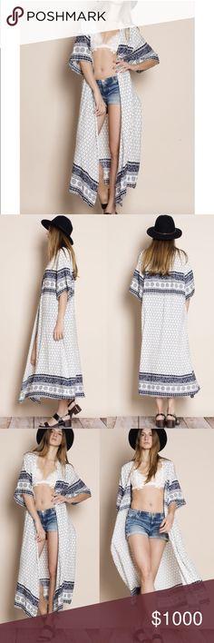🌼1 DAY SALE🌼 Printed kimono. Gorgeous kimono! Dreamy light flowy fabric. Must have! Aluna Levi Sweaters Shrugs & Ponchos