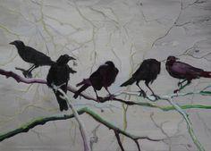 Alice Brasser - Crows. Oil on canvas, 80 x 110 cm (2010)    [Tumblr Monday with artandopinion]