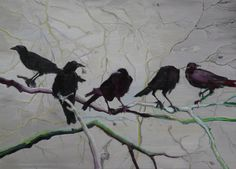 Alice Brasser - Crows. Oil on canvas, 80 x 110cm (2010)    [Tumblr Monday with artandopinion]