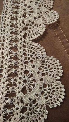 51 New ideas knitting gloves tutorial yarns Crochet Lace Edging, Crochet Borders, Crochet Art, Love Crochet, Irish Crochet, Crochet Doilies, Easy Crochet, Crochet Stitches, Crochet Motif