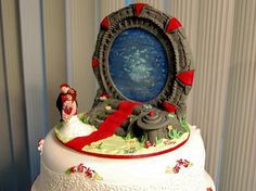 OMG so I will either have this when I get married or a TARDIS with the bridge and groom peeking out...