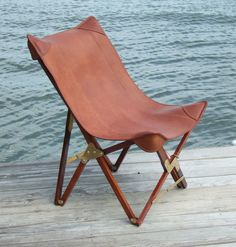 Martin leather camp chair