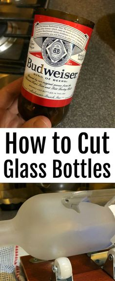 Learn how to cut glass bottles easily and quickly with this step by step tutorial that'll have you exploring new ways to craft!  #glass #bottle #DIY #upcycle #craft Soap Cutter, Bottle Cutter, Cutting Glass Bottles, Cold Ice, Liquor Bottles, Wet And Dry, Cut Glass, Repurpose, Beer Bottle