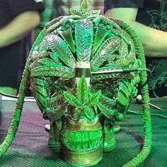 Pipe Masters Death Head Hookah collab Scott Deppe x Mr. grayglass x JD Maplesden x Darby