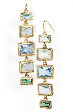 Lauren Ralph Lauren Stone Linear Drop Earrings available at #Nordstrom