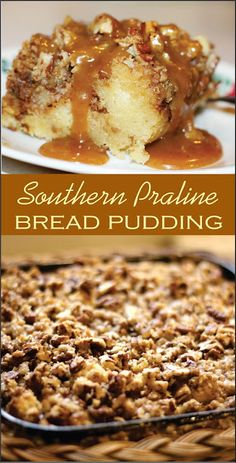 Cooking With Mary and Friends: Southern Praline Bread PuddingYou can find Bread pudding and more on our website.Cooking With Mary and Friends: Southern Praline Bread Pudding Pudding Desserts, Köstliche Desserts, Delicious Desserts, Dessert Recipes, Yummy Food, Cajun Desserts, Instant Pudding, Best Bread Pudding Recipe, Chocolate Bread Pudding