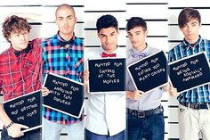 Jay - Wanted for not getting the jokes. Max - Wanted for arguing with taxi drivers. Siva - Wanted for crying at the movies. Tom - Wanted for eating to many crisps. Nathan - Wanted for being socially awkward.  Me: I like social awkwardness. :P  In love with crisps. <3 Cry to much on chick flicks! :'( Never argue with taxi drivers. :D Sometimes never get a few jokes but go with it. :)