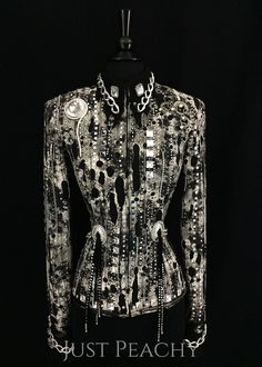 Black and Charcoal Western Horse Show Jacket by Juhlz ~ Just Peachy Show Clothing
