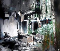"Saatchi Online Artist Michal Mráz; Painting, ""Disturbed (SOLD)"" #art"