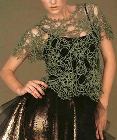 """Gorgeous Lace Sweater - using Japanese crochet yarns """"Rich More""""            Pattern (1) …   Pattern (2) …   Pattern (3) …"""