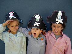 Pirate hats!  Craft/art idea.