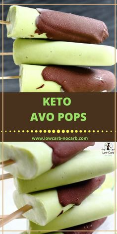 Harness the healthy and satisfy your sweet tooth all at once with 11 of the Best Low Carb Keto Avocado Dessert Recipes that'll have you saying WHOA! Avocado Dessert, Avocado Popsicles, Keto Desserts, Keto Snacks, Dessert Recipes, Recipes Dinner, Keto Avocado, Avocado Recipes, Avocado Toast