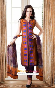 Designer Cotton Salwar Suit (VDI21562)