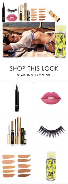 """""""Day out with Sel"""" by queenalisa on Polyvore featuring Lime Crime, Yves Saint Laurent and Manic Panic"""