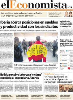 Los Titulares y Portadas de Noticias Destacadas Españolas del 19 de Febrero de 2013 del Diario El Economista ¿Que le parecio esta Portada de este Diario Español?
