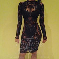 BADGYAL custom layered embroidery lace ivory by ISLANDPRYNCESS