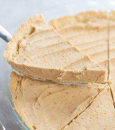Wondering how to enjoy keto desserts during the hotter months without turning on the oven? Enter this Keto Peanut Butter Pie Recipe! It's gluten-free, low carb and a no-bake recipe just in time for summer. The homemade pie gets stored in the freezer and is just 8.9g net carbs per serving! Low Carb Desserts, Healthy Dessert Recipes, Pie Recipes, Sweet Recipes, Baking Recipes, Low Carb Summer Recipes, Low Carb Brownie Recipe, Low Carb Pie Crust, Low Carb Peanut Butter