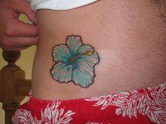 Hibiscus Tattoos Designs: Blue Hibiscus ~ tattooeve.com Tattoo Design Inspiration
