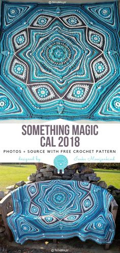 Great CALs to Try in 2019 Free Crochet Patterns – Knitting patterns, knitting designs, knitting for beginners. Free Mandala Crochet Patterns, Afghan Crochet Patterns, Knitting Patterns, Crochet Afghans, Doodle Patterns, Crochet Circles, Crochet Cushions, Crochet Blocks, Crochet Pillow