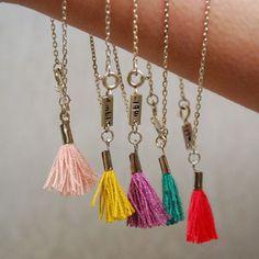 made by lennebelle single tassel bracelet